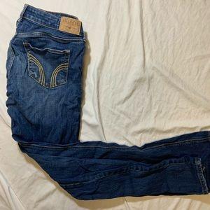 Hollister Distressed Dark Wash Bootcut Jeans